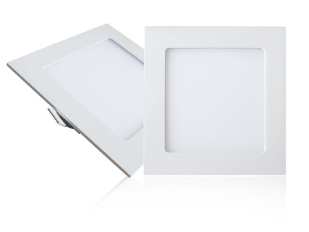 EcoVision LED downlight 9W, 810lm, 3000K, 130x130mm